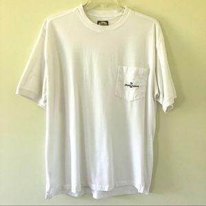 Tommy Bahama Pocket White T-Shirt | XL